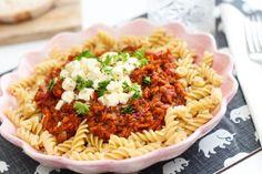 Pastasósa með linsubaunum og gulrótum Ljúfmeti og lekkerheit