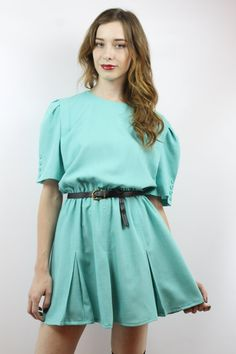 A light blue dress 80s