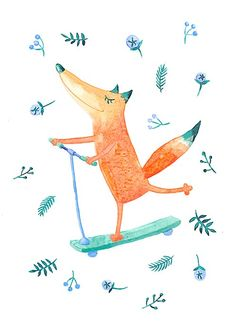 54 Ideas For Fashion Ilustration Winter Outfit Fuchs Illustration, Cute Illustration, Baby Animals, Cute Animals, Cute Fox, Fox Art, Kids Prints, Clipart, Pet Birds