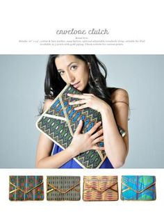 Envelope Clutch, $70, 2012 F/W Lookbook