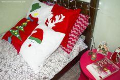 DIY - Almofadas decorativas para o Natal (sem costura) | Especial de Natal 2015 - Casinha Arrumada