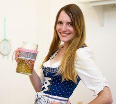 Personalisierbares Maßkrugband mit Namen für die Wiesn/ beer mug decoration for oktoberfest by Nähhausen via DaWanda.com