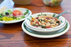 Minestrone Soup and Salad - Olive Garden