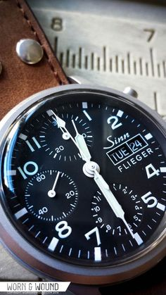 WORN&WOUND: Sinn 356 Review--- We've covered Sinn plenty in the past, so most of our readers already know the spiel when it comes to this German favorite. But outside of their line of rugged over-engineered mechanical wonders, Sinn is also known for producing some fantastic low-tech entry-level watches like the 556, the recent 104, and the discontinued 656. Most who handle these timepieces would agree that their level of finish puts other brands selling similarly priced watches to shame.