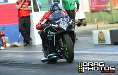 19 October 2013 Super Sportsman event at Willowbank Raceway - Bike Shootout winner Kevin Cleeve - for a full image gallery go to www.dragphotos.com.au