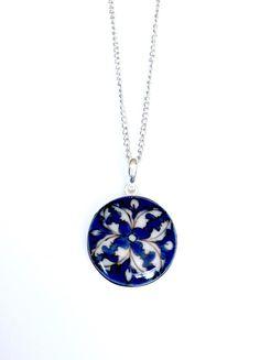Hearts on Fire Pendant - Flat Fire Heart, Hearts, Pendants, Brass, Hand Painted, Pendant Necklace, Jewellery, Flat, Chain