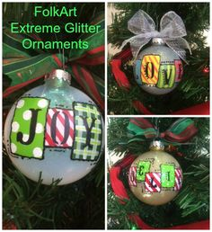 How To Create Gorgeous Ornaments Using FolkArt Extreme Glitter! The Plaid Palette blog post by Chris Williams