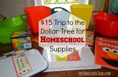 15 Trip to the Dollar Tree for Homeschool Supplies Free Homeschool Curriculum, Homeschool Supplies, Preschool At Home, Preschool Activities, Tot School, Home Schooling, Kids Education, Fun Learning, Making Ideas