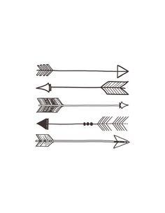 Un haz de 5 flechas en su brazo....↘⬇↙⬅↖