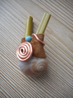 Kuripe with sea snail, leather, turquoises and copper spirals. www.facebook.com/MotherofWater