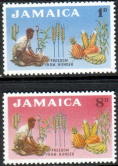 Jamaica 1963 Freedom From Hunger Set Fine Mint SG Scott 201 2 Other West Indies and British Commonwealth Stamps HERE!