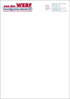 Briefpapier van der Werf Loodgietersbedrijf