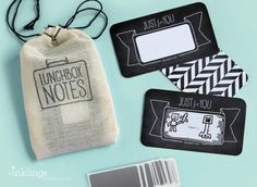 24 Scratch-off Lunchbox Notes  // Mini Cotton by InklingsPaperie