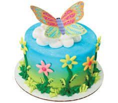Whimsical Butterfly Cake
