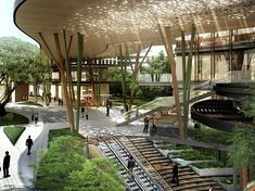 The Benefits Of Landscape Architecture Green Architecture, Landscape Architecture, Landscape Design, Architecture Design, Contemporary Architecture, Ville Durable, Mall Design, Walking Street, Urban Fabric