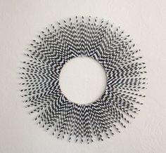 poppy haus: paper straw starburst mirror