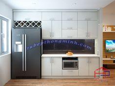 Nội thất Hpro xin giới thiệu Tủ bếp Acrylic TBAC164 kiểu dáng chữ I xinh xắn dành cho căn nhà có diện tích nhỏ hẹp tạo nên không gian sinh hoạt thoải mái