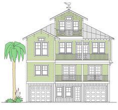 Ebb Tide Retreat - Coastal Home Plans Stilt House Plans, Beach House Plans, House On Stilts, Coastal House Plans, Modern House Plans, Coastal Homes, Elevated House Plans, House Plans Online, Flood Zone