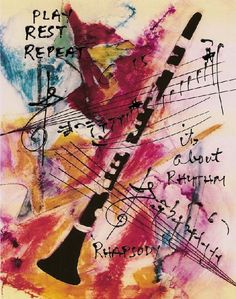 Clarinet Music Print Hand Signed by PlayRestRepeat on Etsy