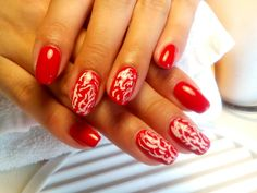 Red Uv Gel, Nails, Red, Beauty, Beleza, Ongles, Finger Nails, Nail, Rouge