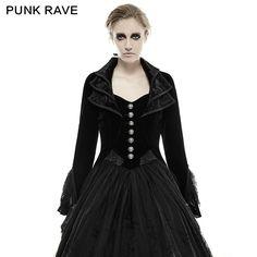 New Punk Rave Fashion Black gothic jacket Rock cosplay Kera Steampunk women Coat