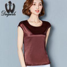 Dingaozlz new summer sleeveless women tops elegant female fashion solid color chiffon blouse shirt plus size M-4XL #Affiliate
