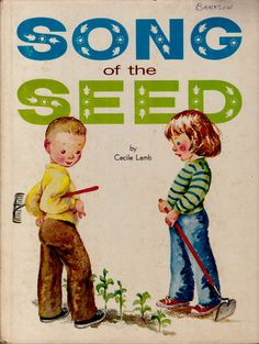 vintage kids book Song of the Seed lyrics and by OnceUponABookshop, $8.50