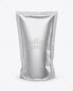 Matte Metallic Stand Up Pouch Mockup - Front View