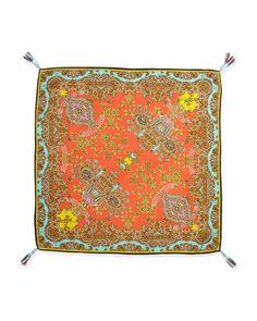 Rich Paisley Printed Silk Scarf