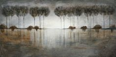 Original painting Modern contemporary trees by LaurenMarems