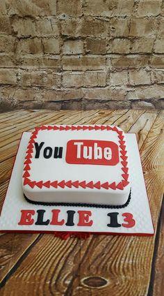 YouTube logo cake Our cakes Pinterest Youtube logo Cake and