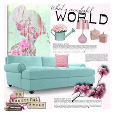 """""""My beautiful dream"""" by anna-survillo ❤ liked on Polyvore featuring interior, interiors, interior design, home, home decor, interior decorating, Oliver Gal Artist Co., Joybird Furniture and Anja"""