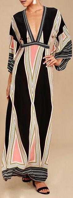 Lulus Montecito Print Maxi Dress