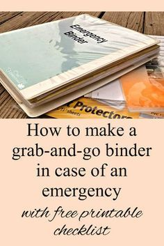 If you ever have to evacuate your home in a hurry you'll appreciate having your important documents in one easy-to-grab place: your emergency binder. Here's how to make one, with a printable checklist so you won't forget anything. Family Emergency Binder, In Case Of Emergency, Emergency Preparedness Kit, Emergency Preparation, Hurricane Preparedness Kit, House Cleaning Tips, Cleaning Hacks, Deep Cleaning, Important Documents