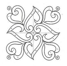 Ornaments, charts and images for applications. Ornaments, charts and images for applications. Wood Carving Patterns, Stencil Patterns, Stencil Designs, Tile Patterns, Applique Designs, Pattern Art, Designs To Draw, Quilting Designs, Embroidery Patterns