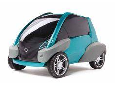Compact Urban Bump Car, is a two-seat, all-electric mini-car designed for urban driving Best Electric Car, Electric Cars, Can Am Spyder, Jaguar, Peugeot, Benz, Beach Cars, Solar Car, Microcar