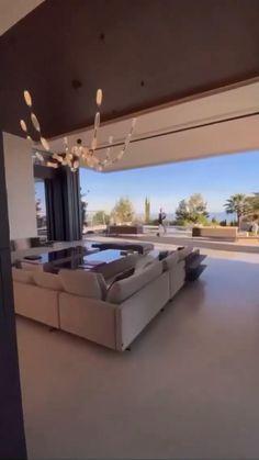 Mansion Interior, Dream House Interior, Luxury Homes Dream Houses, Home Interior Design, Interior Architecture, Luxury Modern Homes, Living Room Interior, Modern Exterior House Designs, Modern House Design