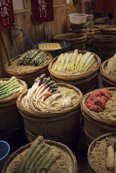 Kyoto pickles | Takakura, a tsukemono or pickle specialist, located near the western end of Nishiki Dori.