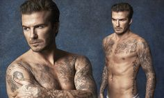 David Beckham unveils new swimwear collection for H&M #DailyMail