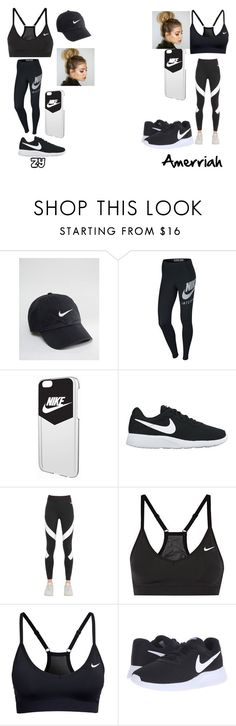 """BFF Goals"" by zyriajones ❤ liked on Polyvore featuring NIKE"