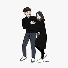 Ideas Wall Paper Cartoon Couple Illustrations For 2020 Drawing Cartoon Characters, Character Drawing, Cartoon Drawings, Cartoon Art, Character Design, Paar Illustration, Couple Illustration, Character Illustration, Cute Couple Drawings