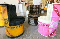 L'Atelier Fanfreluche in Mar Mikhail - Upcycled goods represent a niche market in Lebanon.