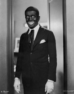 Al Jolson in Black Suit in Black and White Premium Art Print