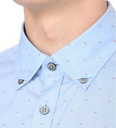 Striped and fil coupé cotton shirt