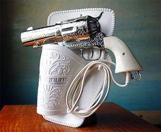 Vintage Novelty Pistol Gun Hairdryer, I love this... very funny!