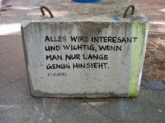 Wolfgang Nieblich Flaubert-Zitat Auf Beton|PalmArtPress