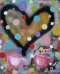 Love x 2    high gloss finish Tammy Hudgeon Studio