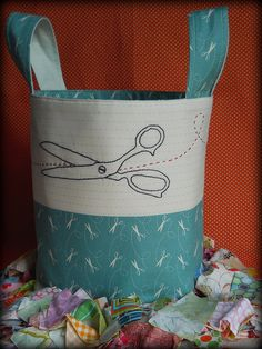 Beautiful scrap fabric bag