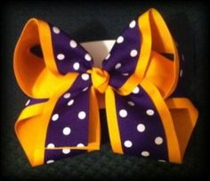 Large Double Layer Boutique Bow  LSU TIGERS!  http://www.ebay.com/itm/120796169764?ssPageName=STRK:MESELX:IT&_trksid=p3984.m1555.l2649