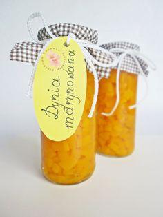 Dynia marynowana Cantaloupe, Pumpkin, Fruit, Jars, Home Canning, Pots, Pumpkins, Squash, Vases